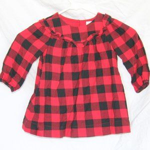 Baby Gap Buffalo Plaid Check 18-24 MO Dress